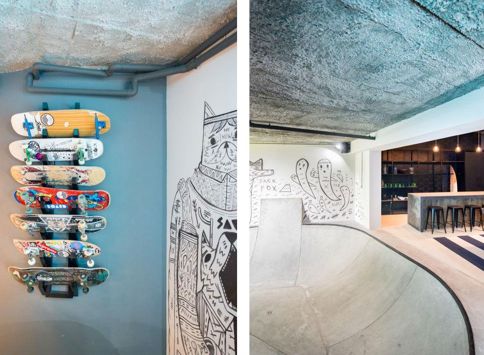 Urban Man Cave wall
