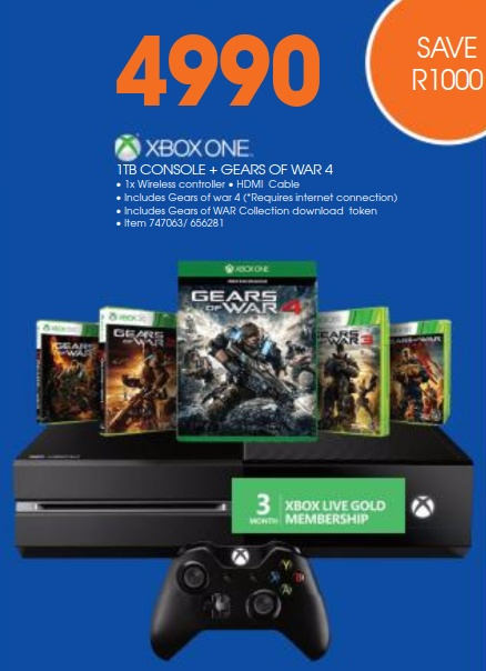 Xbox One Gears 4 Dio wired bundle