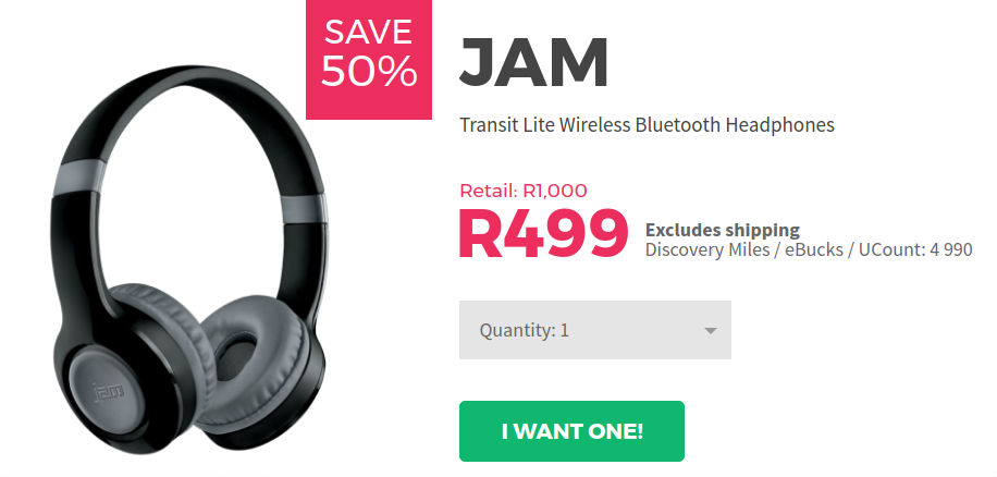 JAM wireless headphones