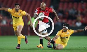 Lionel Mapoe try Jaguares