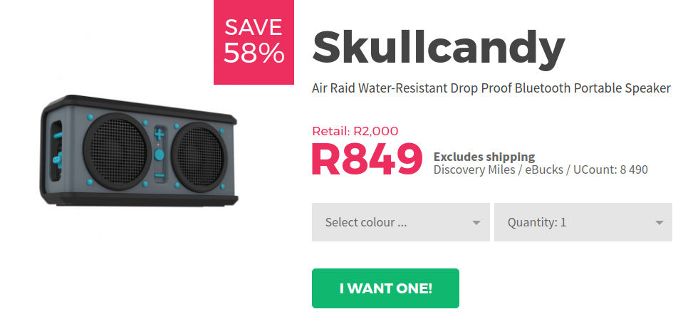 Skullcandy Bluetooth speaker