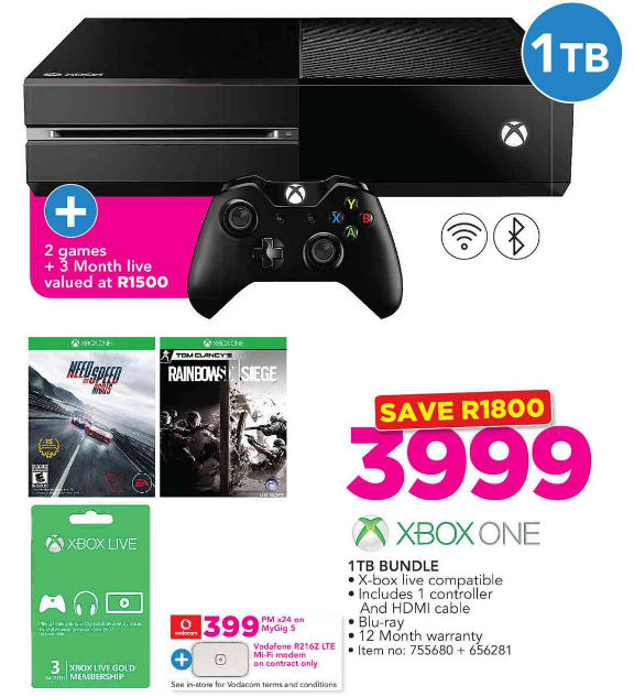 Xbox One console deal from Game