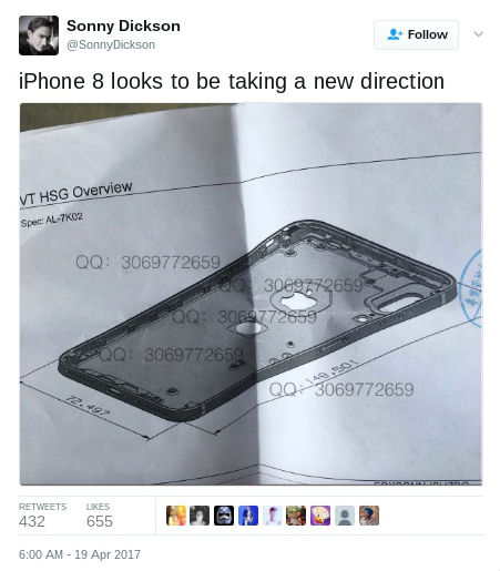 iPhone 8 tweet