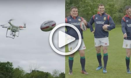 British and Irish Lions drone challenge