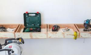 Powertool storage diy builders