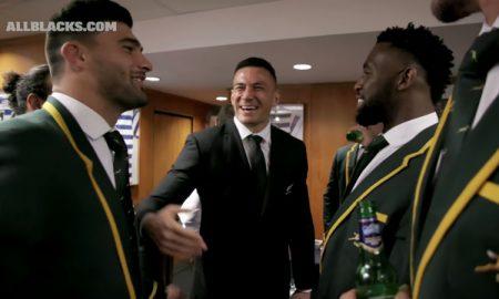 All Blacks Springboks in the Sheds