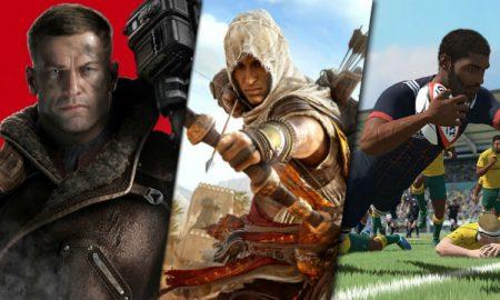 Game releases AC Origins Wolfenstein Rugby 18