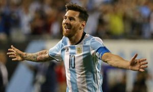 Lionel Messi goal WC Qualifier