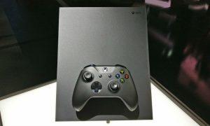 Xbox One X console pic