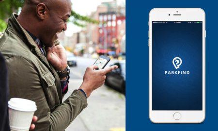 Parkfind app header