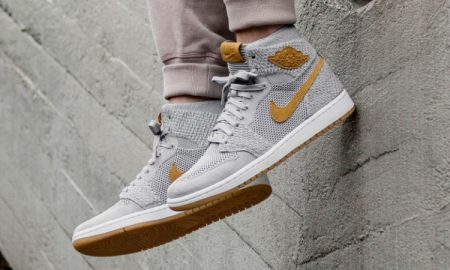 The Air Jordan Retro 1 Flyknit Wolf Grey