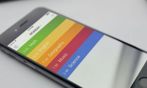 Timetable app header