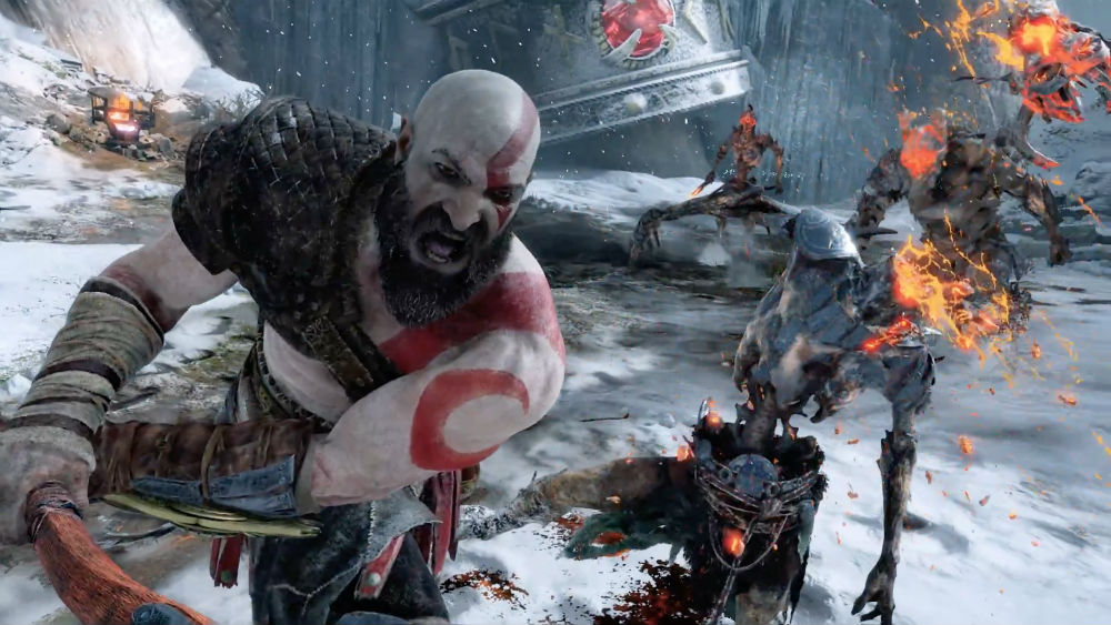 God of War screenshot ps4 action