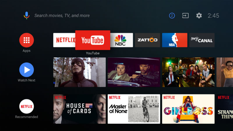 Android TV is the name of the TV operating system that's developed in-house at Google. It's different than Google TV (a defunct moniker for Google's play into the living room space) and it definitely isn't related to Chrome in any way. The best description for Android TV is that it's a smart entertainment platform. It comes built into a number of TVs (primarily from Sony, Sharp and LeEco) but also in a number of streaming video players like the Nvidia Shield. To that end, think of Android TV like iOS or Android – it's an operating system for all of your favorite apps, games, movies, music and TV shows that you navigate with a remote instead of your finger ... and you know, on your TV.