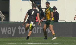 Junior Kiwis Rugby league kick