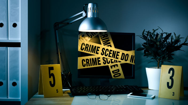 Crime scene computer cyber security