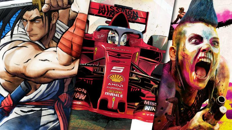 Games review roundup Rage 2 F1 2019 samurai shodown