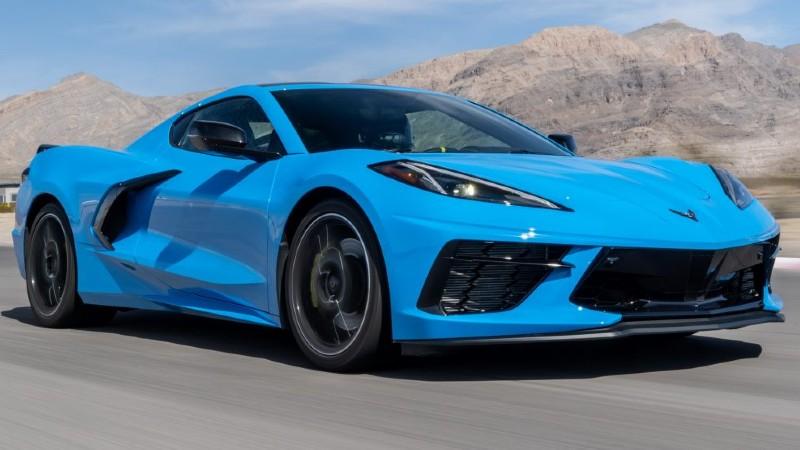 Corvette C8 header blue
