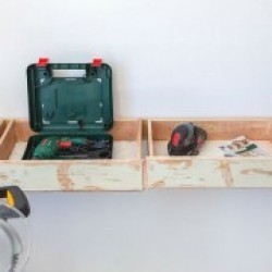 Powertool storage diy builders